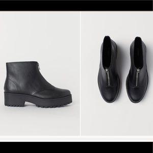 H&M Black Ankle Platform Boots